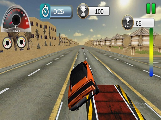 Highway Ramp Stunt Car Simulation
