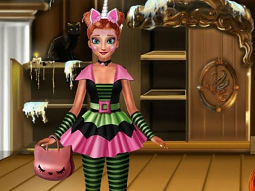 Prenses Cadılar Bayramı Hazırlığı