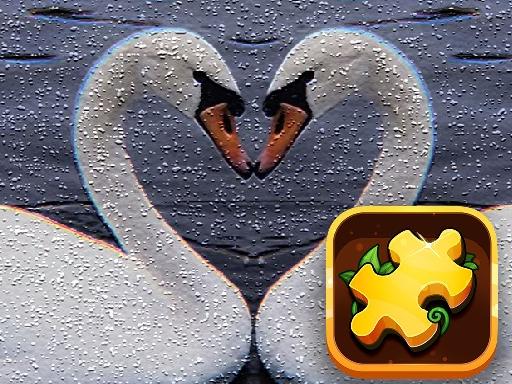 Swan Puzzle Challenge online hra