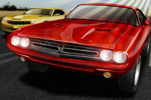 Course de muscle car