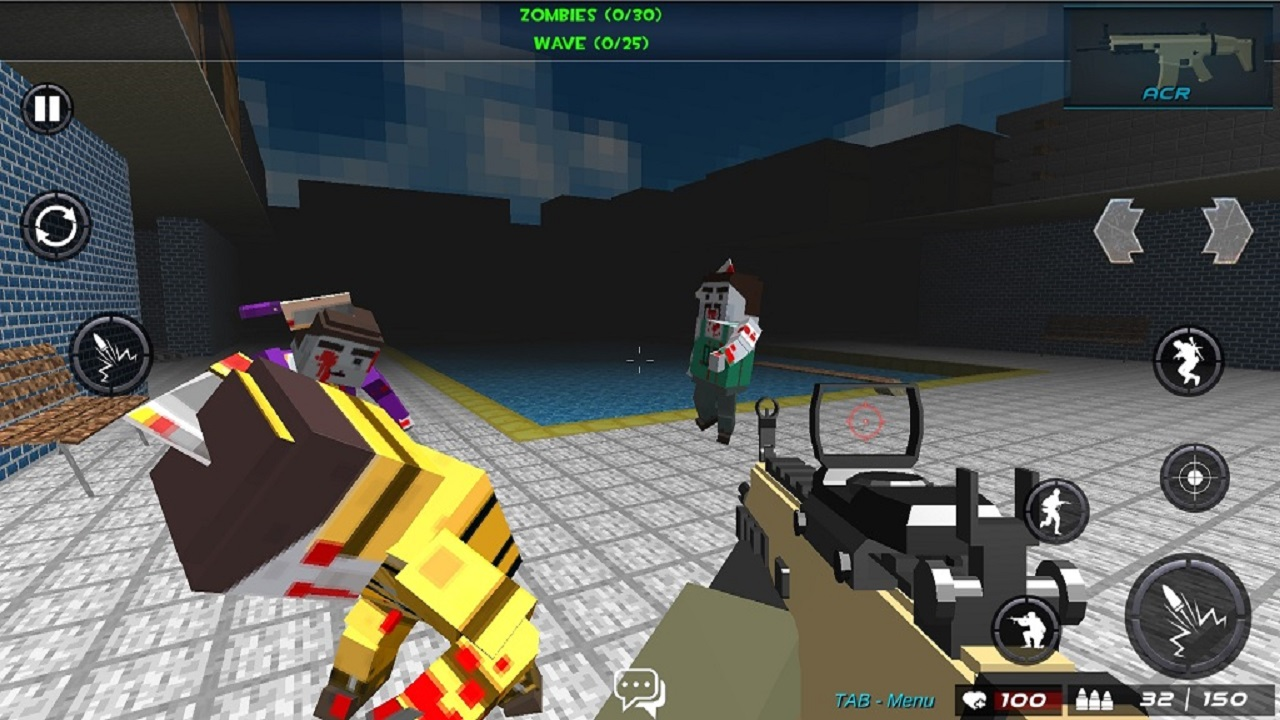 Survival shooting war game pixel gun apocalypse 3