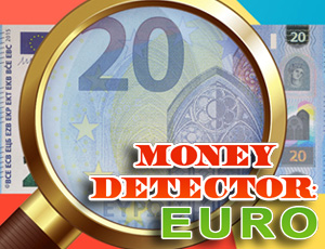 Money Detector: EURO online hra