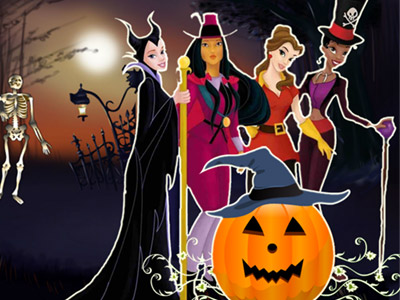 Princesses Halloween Night online hra