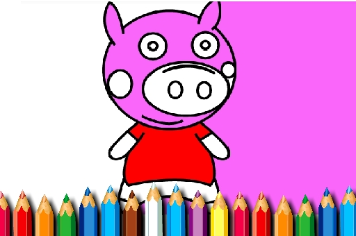 Image BTS Pig Coloring Book