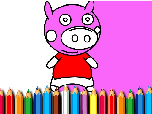 BTS Pig Coloring Book