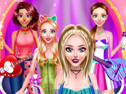 Popstar Girls Dress Up