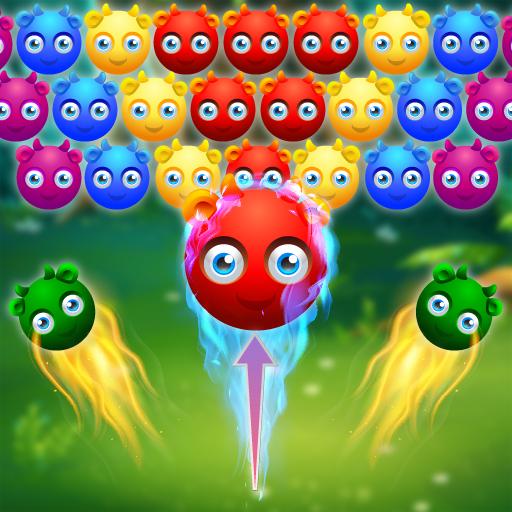Cute Monster Bubble Shooter