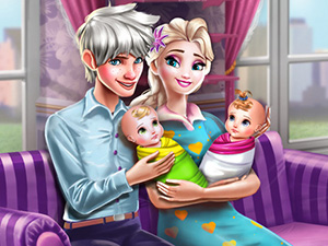 Ice Queen Twins Family Day online hra