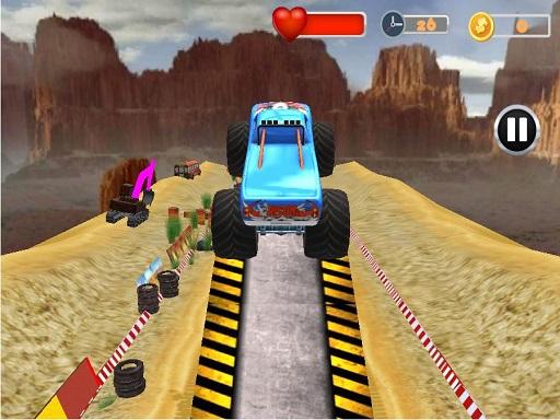 Monster Truck Tricky Stunt ...