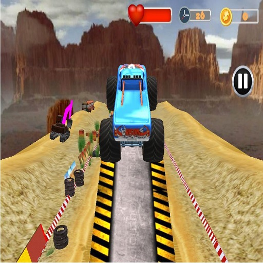 Monster Truck Tricky Stunt Race Game