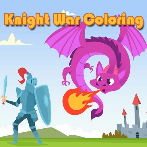 Knight War Coloring