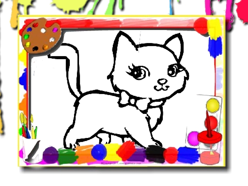 Sweet Cats Coloring online hra