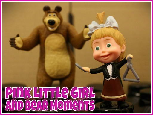 Pink Little Girl and Bear ...
