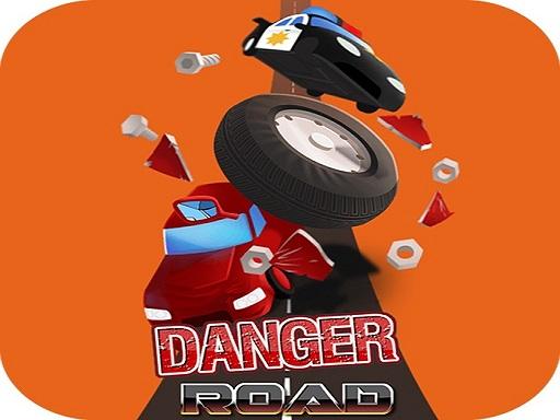Danger Road Car Racing Game 2D