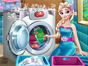 Ice Queen Laundry Day online hra
