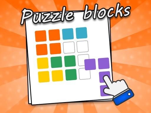 拼圖塊--Puzzle Blocks-在這個由 50 個關卡組成的遊戲中,您會找到彩色棋子,您必須將所有棋子移動到網格中,並正確放置它們。 任何空間都不能空置!