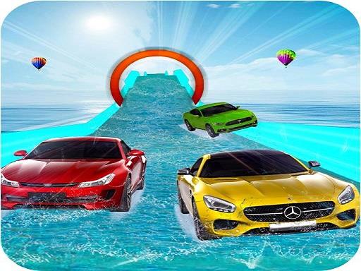 Water Slide Car Stunt ...