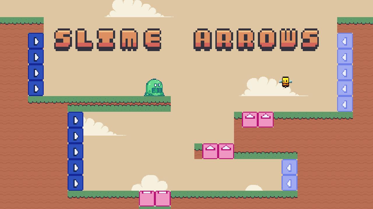 史萊姆箭--Slime Arrows-Slime Arrows 是一款以像素藝術製作的 2D 圖形拼圖平台遊戲。 激活或關閉平台以使角色到達門戶。 還可以查看速通模式,並嘗試以最佳時間到達終點。
