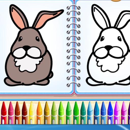Coloring Bunny Book