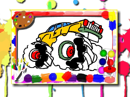 Livre de coloriage monster truck