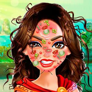 Wonder Woman Face Care online hra
