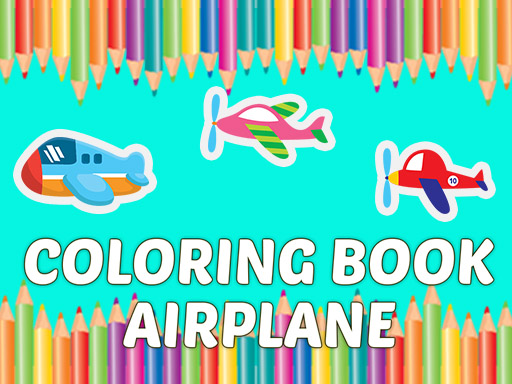 Coloring Book Airplane kids Education