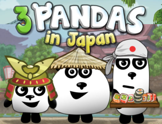 3 Pandas In Japan HTML5 online hra