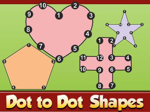 Dot to Dot Shapes Kids Education