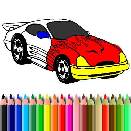 BTS Muscle Car Coloring