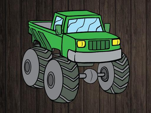 Monster Truck Jigsaw online hra