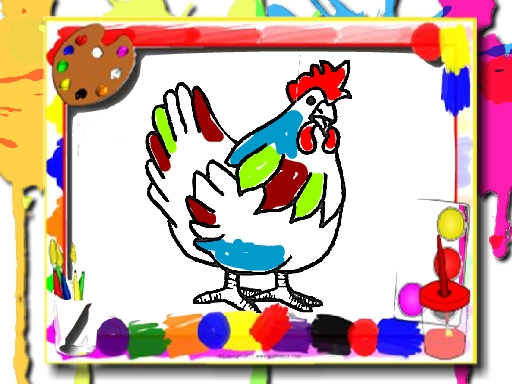 Chicken Coloring Book online hra