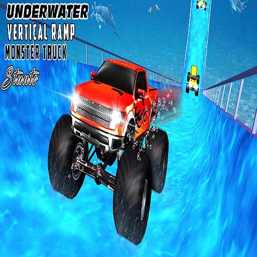 Water Surfer Vertical Ramp Monster Truck Game