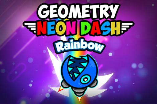 Image Geometry Neon Dash Rainbow