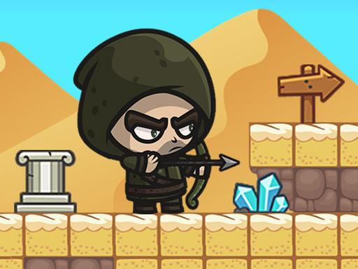 超級射手--Super Archer-平台冒險和動作遊戲,弓箭手必須穿過怪物谷,在那裡他遇到了許多挑戰。收集每個階段的所有星星。超級弓箭手是一個充滿樂趣和挑戰的2D橫向遊戲。