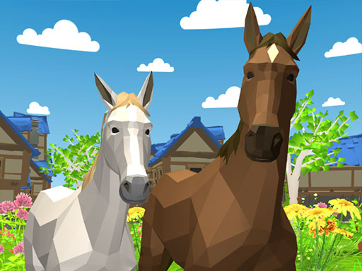 Cheval famille animal simulator 3d