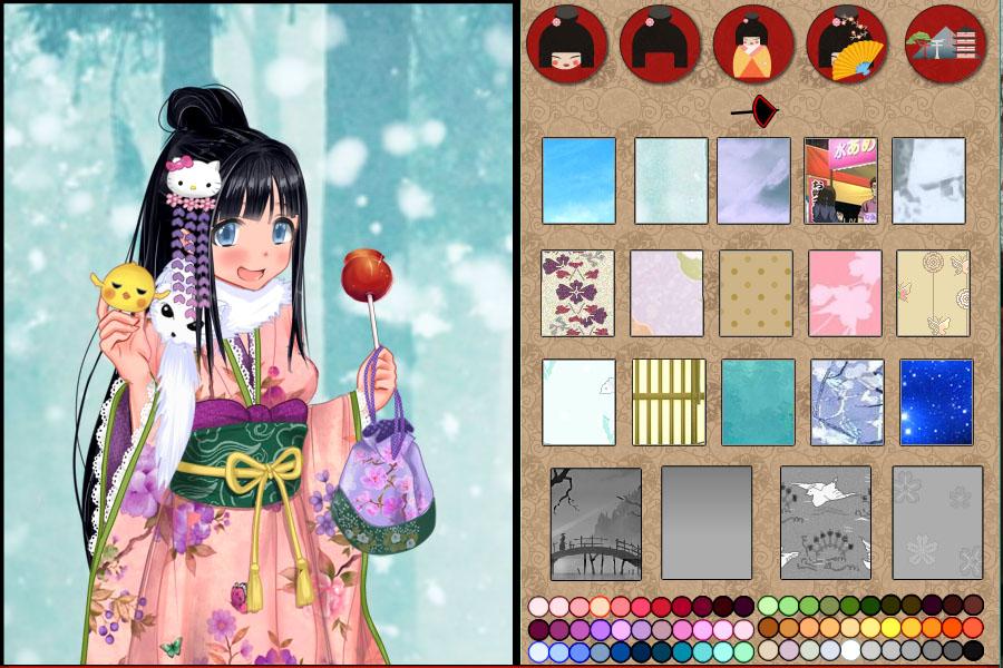 Anime Kimono dress up game