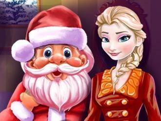 Elsa and Santa Christmas Cleaning