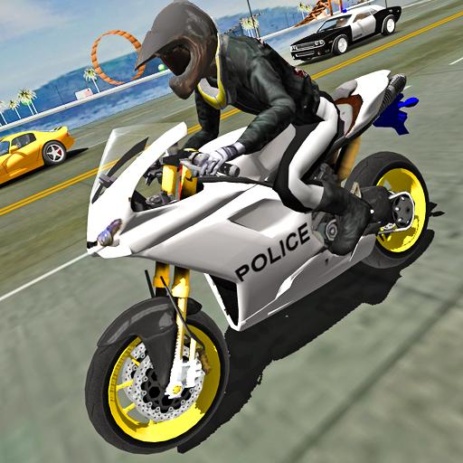 Police Motorbike Traffic Rider