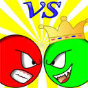Red ball vs green king