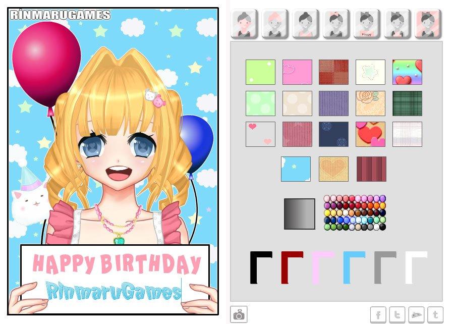 Anime birthday card creator