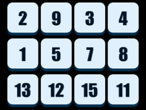 Numbers Sliding Puzzle online hra
