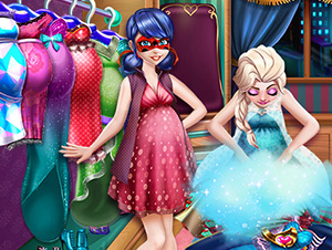 Ladybug and Elsa Pregnant Wardrobe