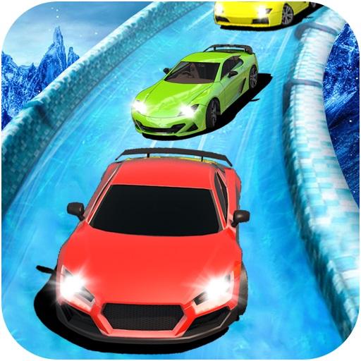 Water Slide Car Racing Sim